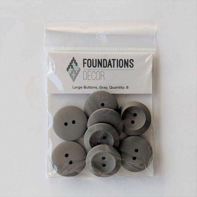 Large Button - Grey