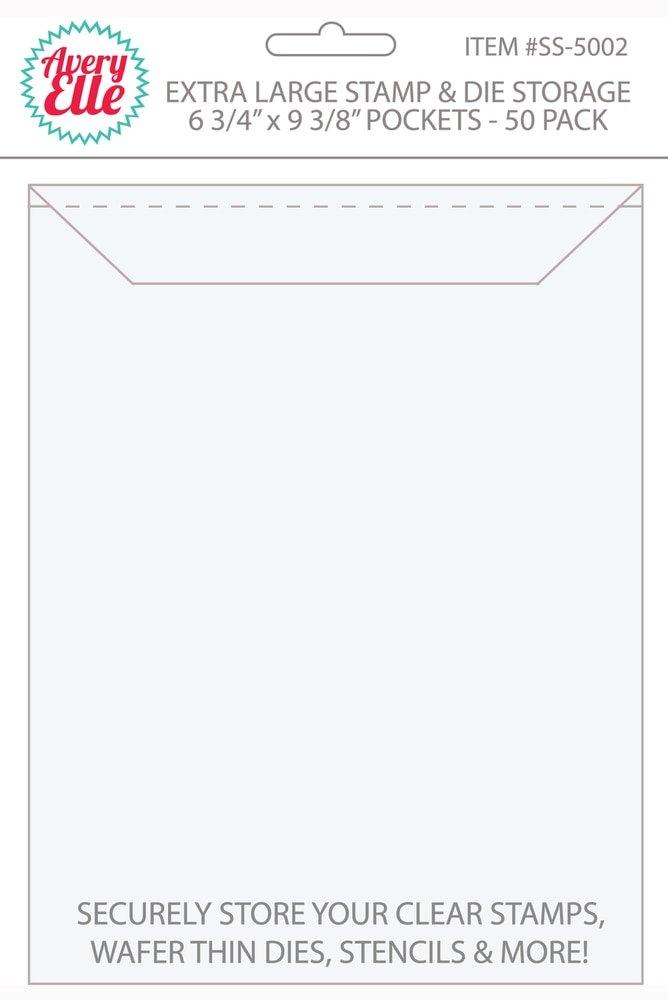 Avery Elle Stamp & Die Storage Pockets 50/Pkg-Extra Large 6.75X9.25