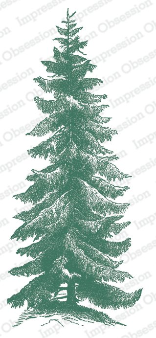 IO- Tall Pine Sprig Stamp