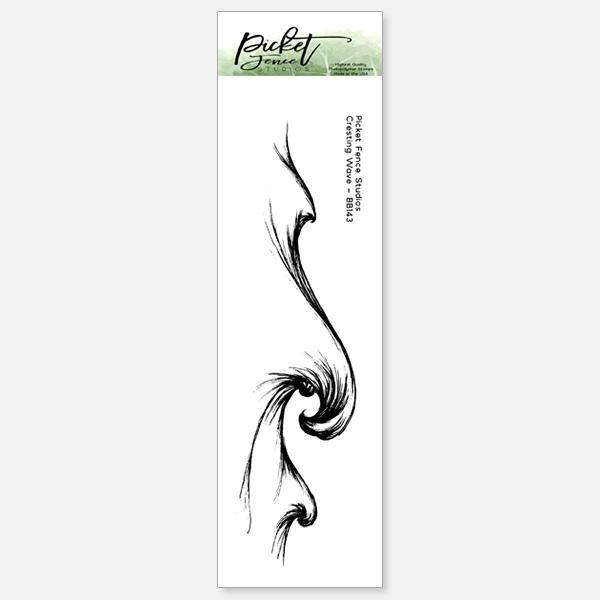 Picket Fence - Cresting Wave Stamp