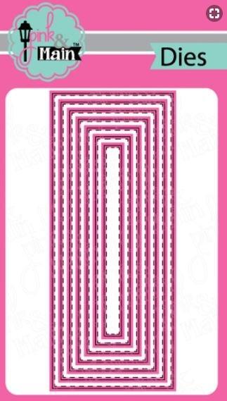 Pink and Main Stitched Slimline Die