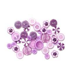 Queen/Button/Purple