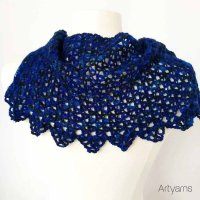 Blue Gems Capelet (crochet)