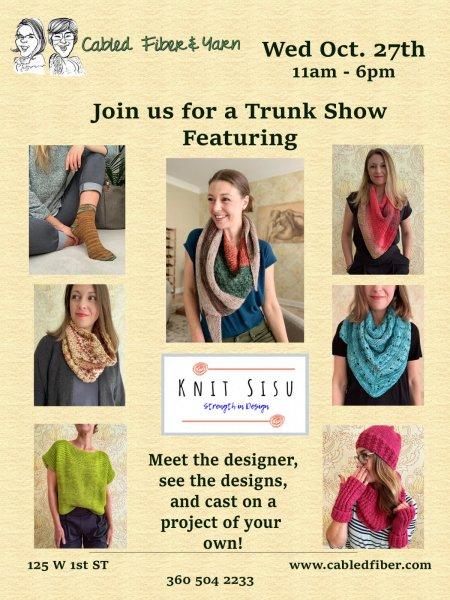 Knit Sisu Trunk Show October 27