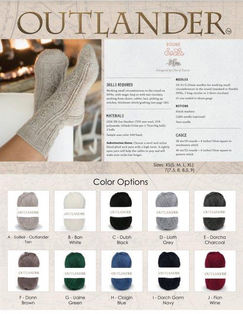 Outlander Doune Socks