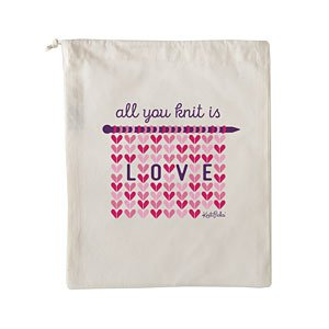 All you Knit is Love Project Bag