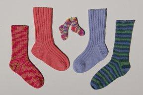 Ann Norling Adult Socks II Play on Ribs #12A