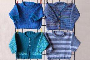 Ann Norling Kid's Basic:  Multi styles, necklines, gauges & Sizes