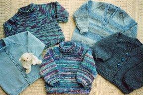 Ann Norling Kids Basic Top-Down Raglan:  Multi styles, necklines, gauges &sizes