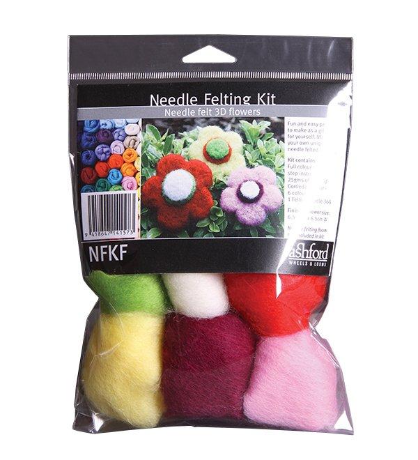 Ashford Needle Felting Kit Flowers