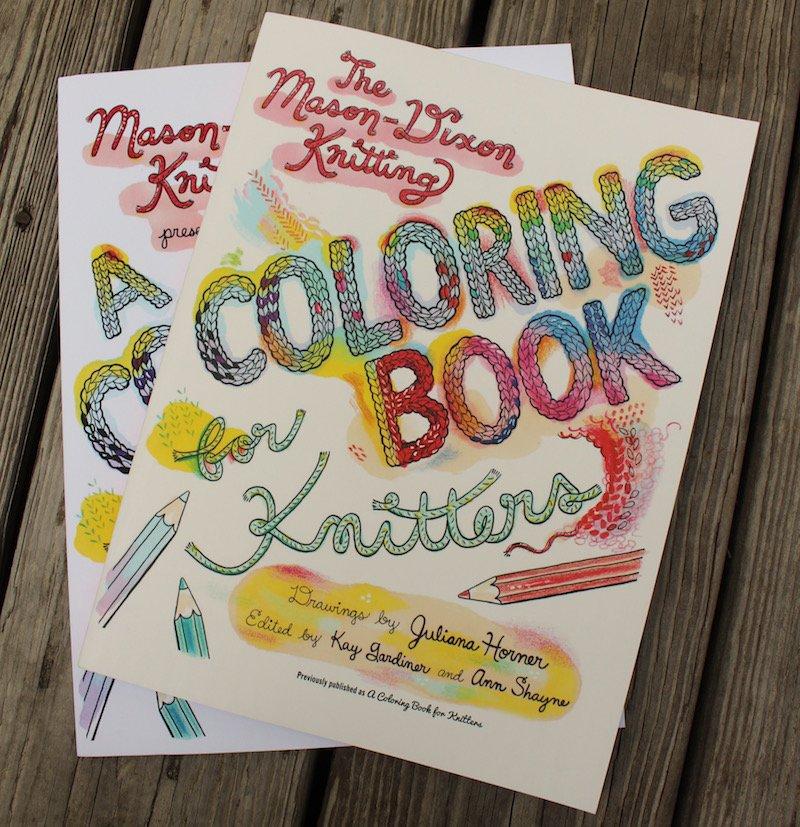 Book:  Mason Dixon Knitting coloring Book for Knitters Juliana Horner