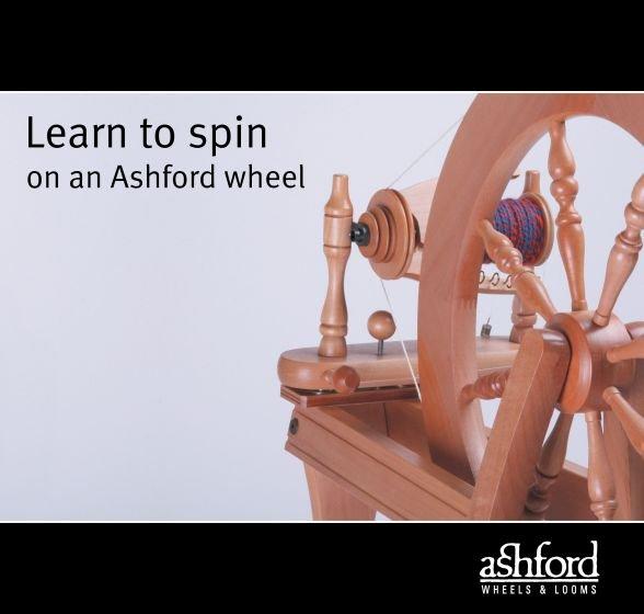 Learn to Spin on an Ashford Wheel
