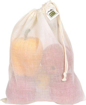 ECOBAGS Natural Cotton Gauze Produce Bags