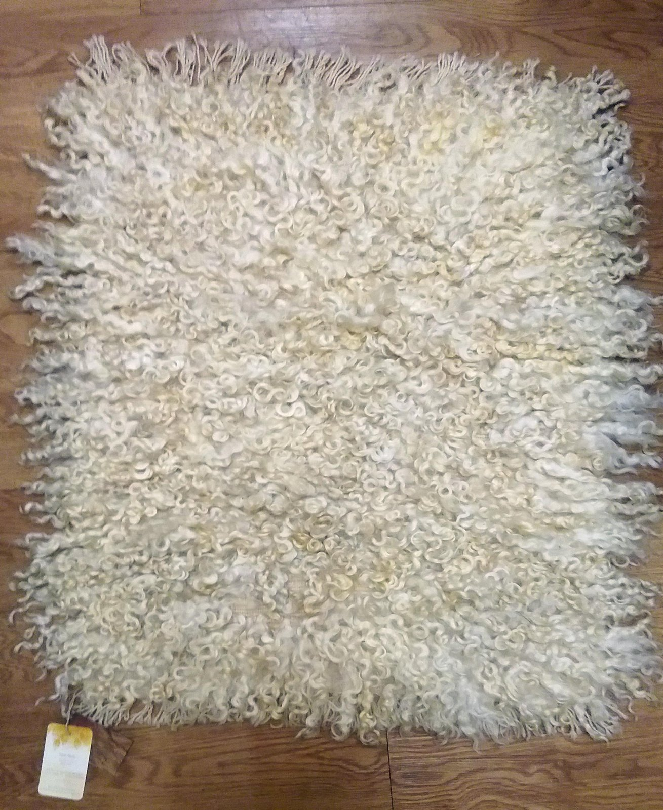 White Handwoven Rug