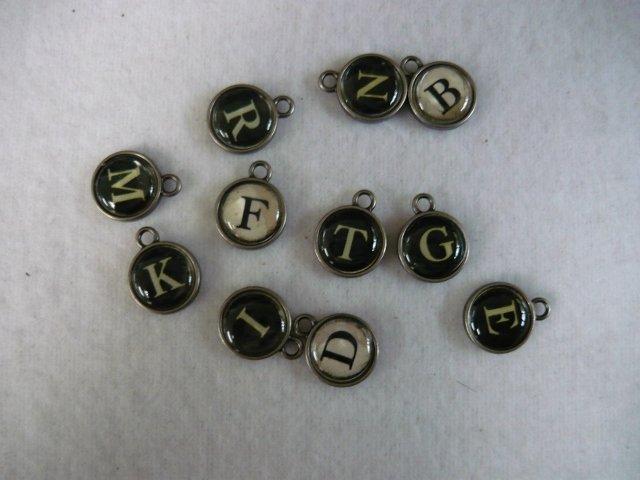 Typewriter Keys Charms