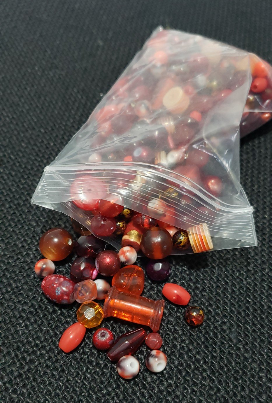 Mixed Red Beads