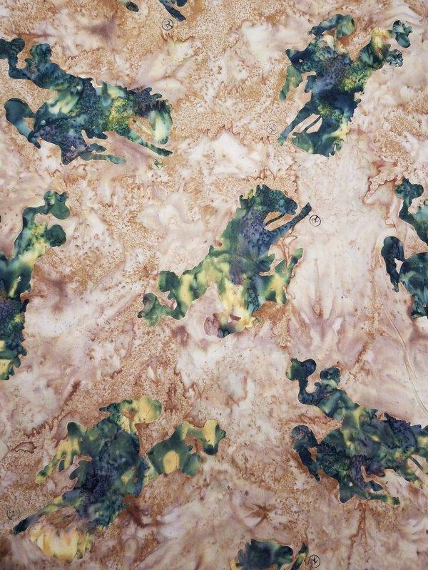 Moss Bucking Bronc Horse Batik