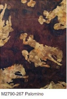 Palomino Wyoming Bucking Bronc Batik