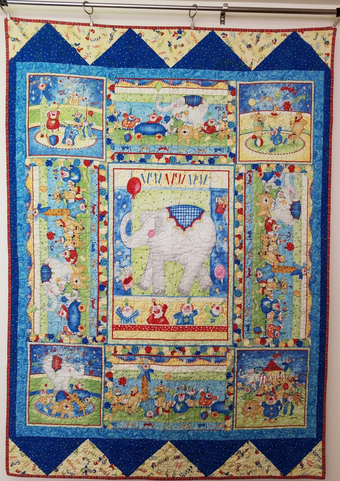 Circus Clowns Baby Quilt