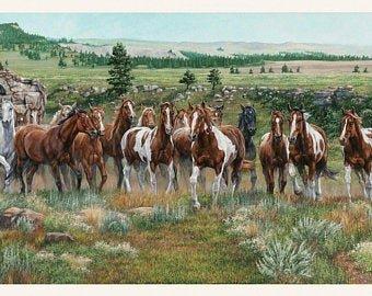 Wild & Free Horse Panel