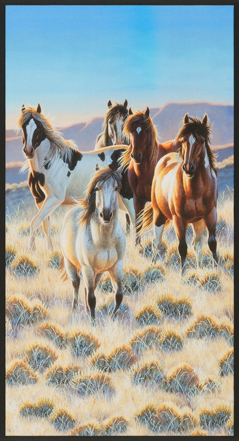 Nature Horses Panel