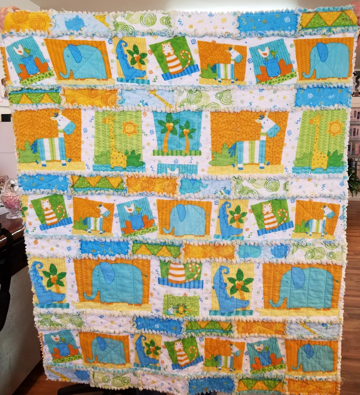 Jungle Buddies Rag Quilt