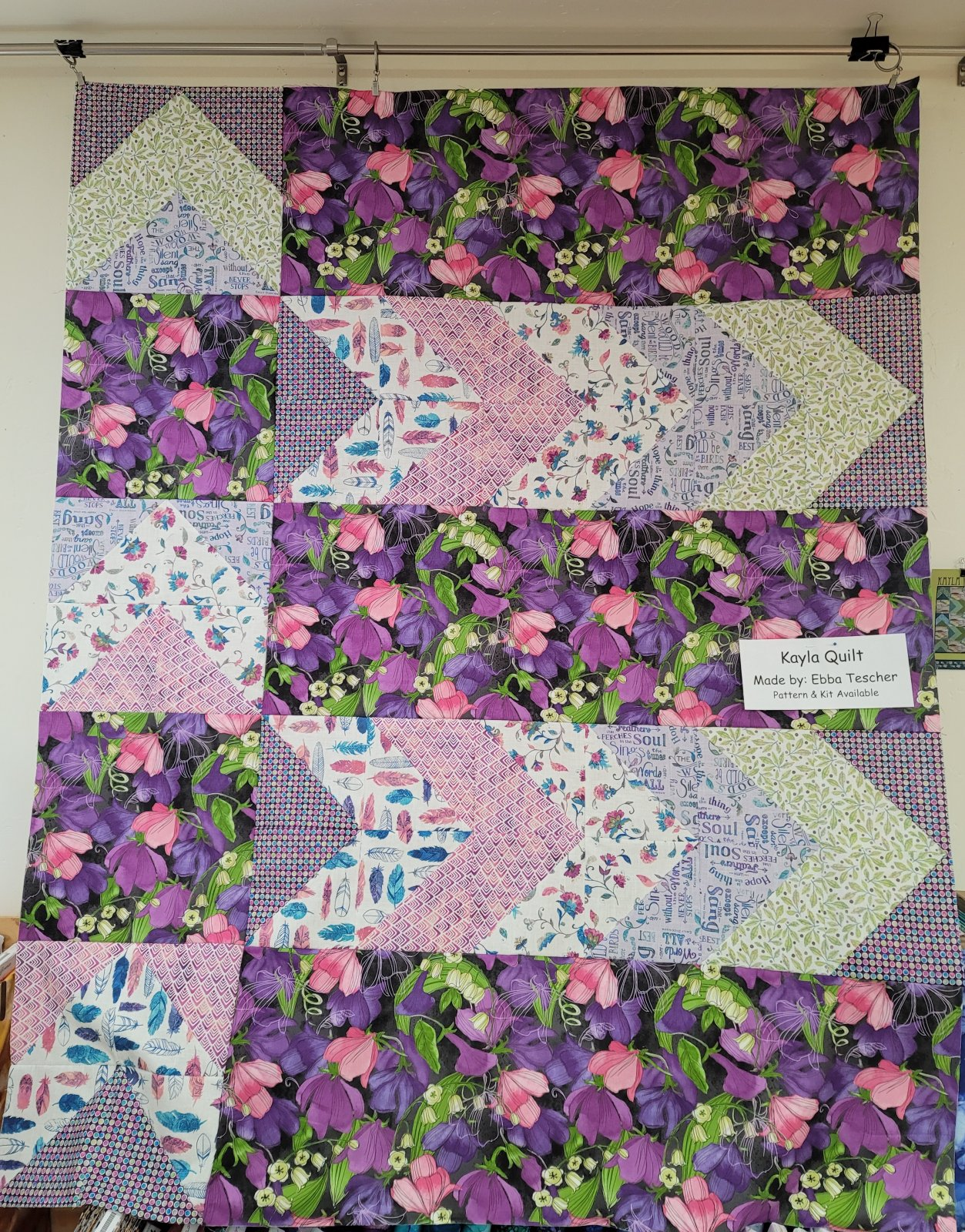 Kayla Purple Quilt Kit