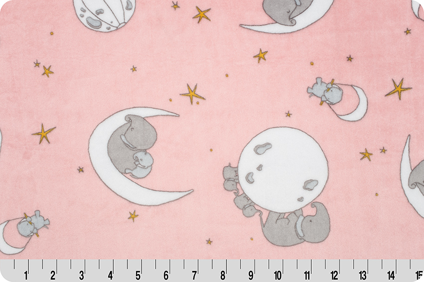 Mr. Sandman Cuddle - pink/gray elephants