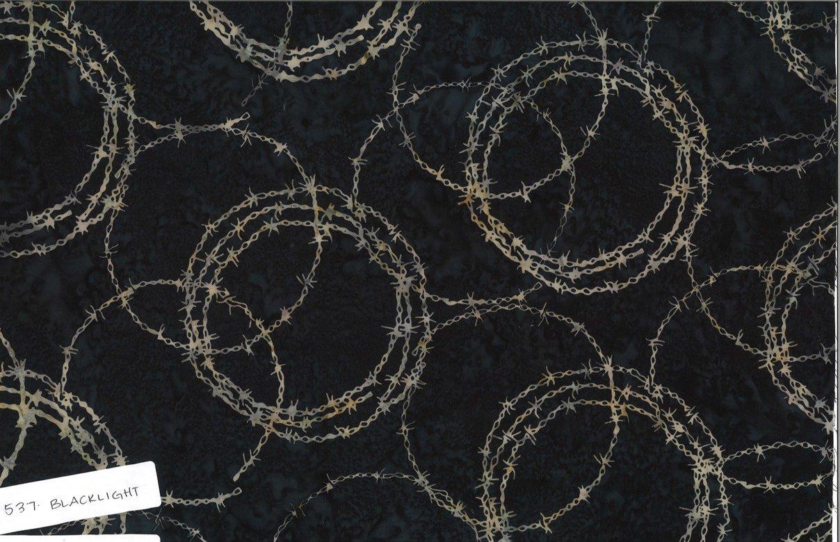 Custom Circular Barbed Wire Blacklight