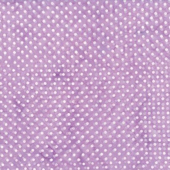 Lilac Polka Dot Hoffman Fabric