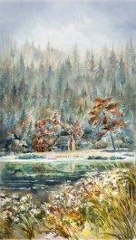 Woodland Whisper-River Rock Panel