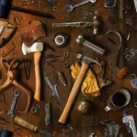 Tool Bench & Tools - Woody