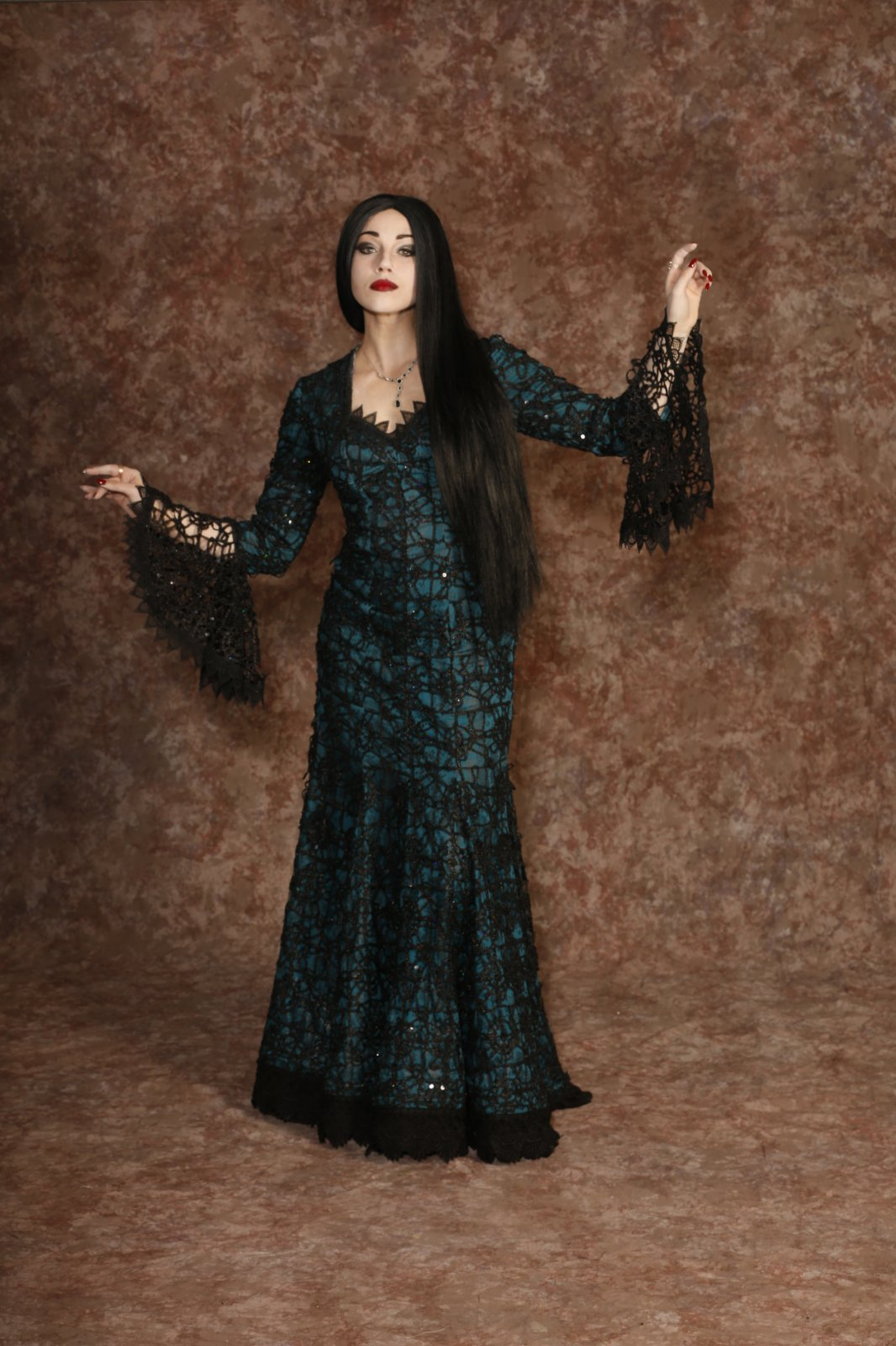 Addams Family - Morticia Teal Dress