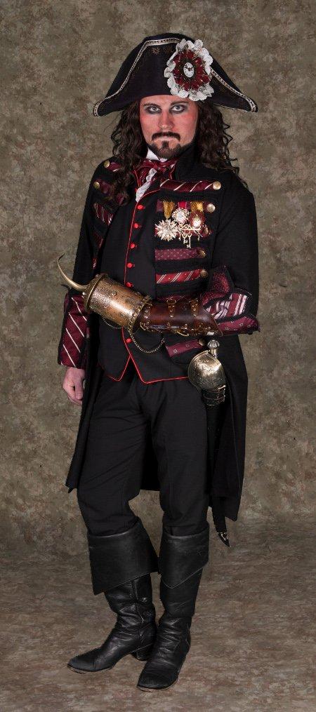 Captain Hook Steampunk Black