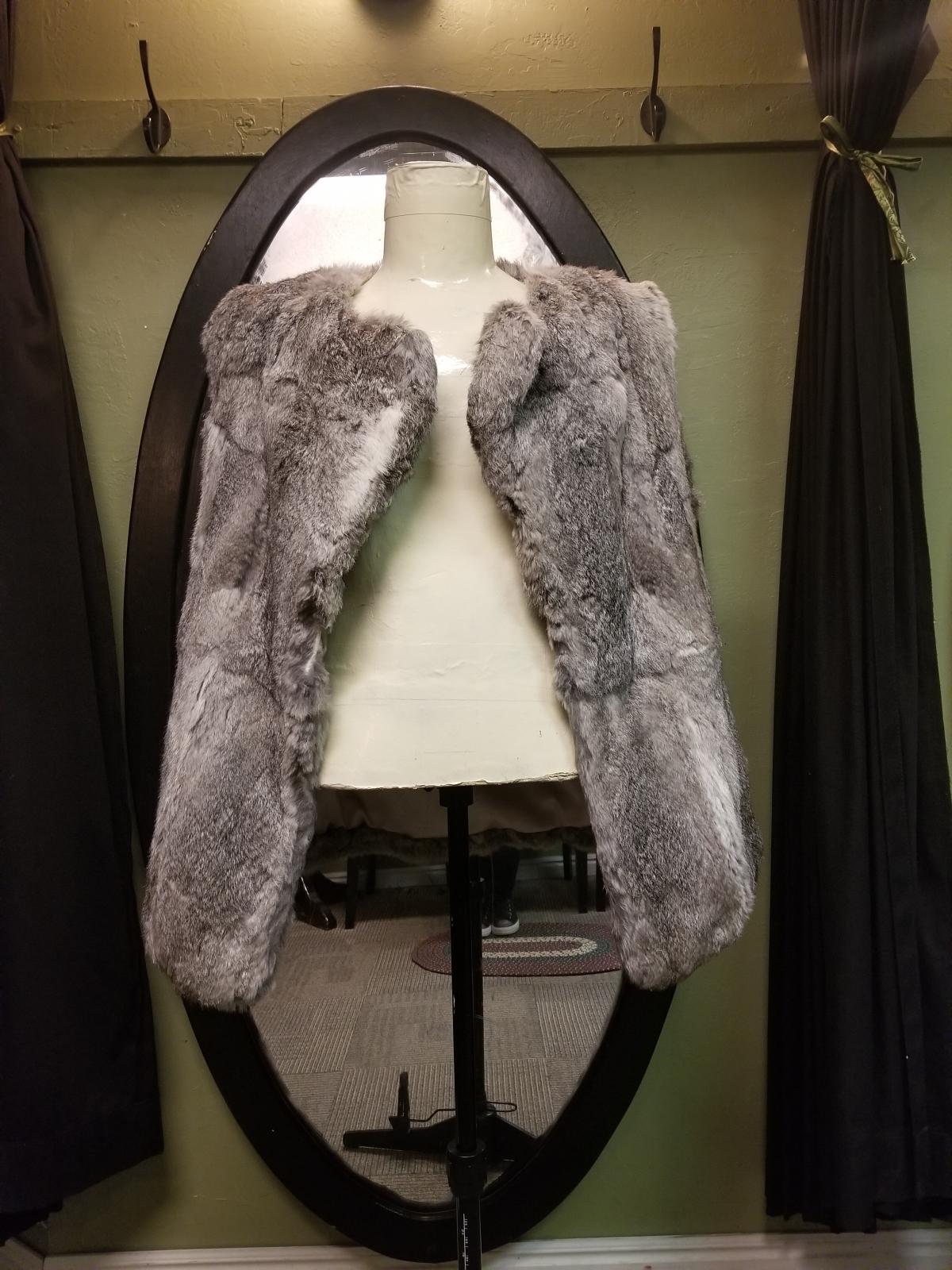 Grey Rabbit Fur Vest