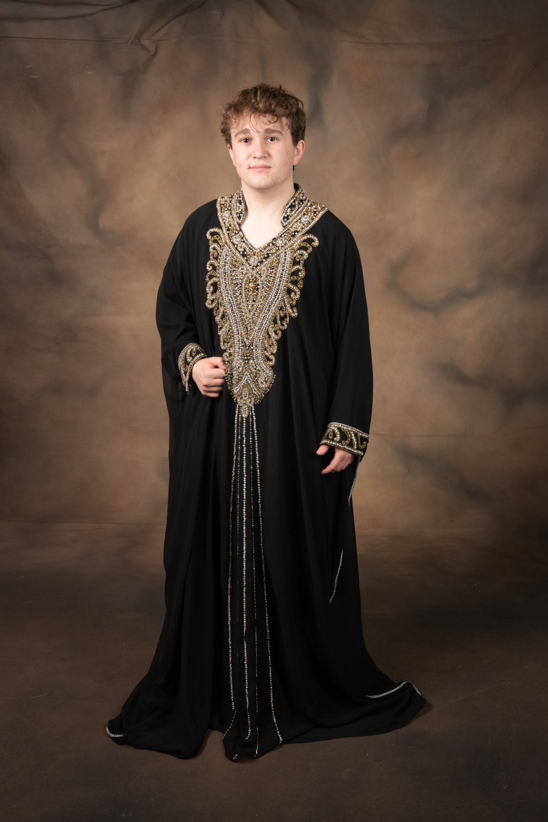 Pharaoh Night Robe Black