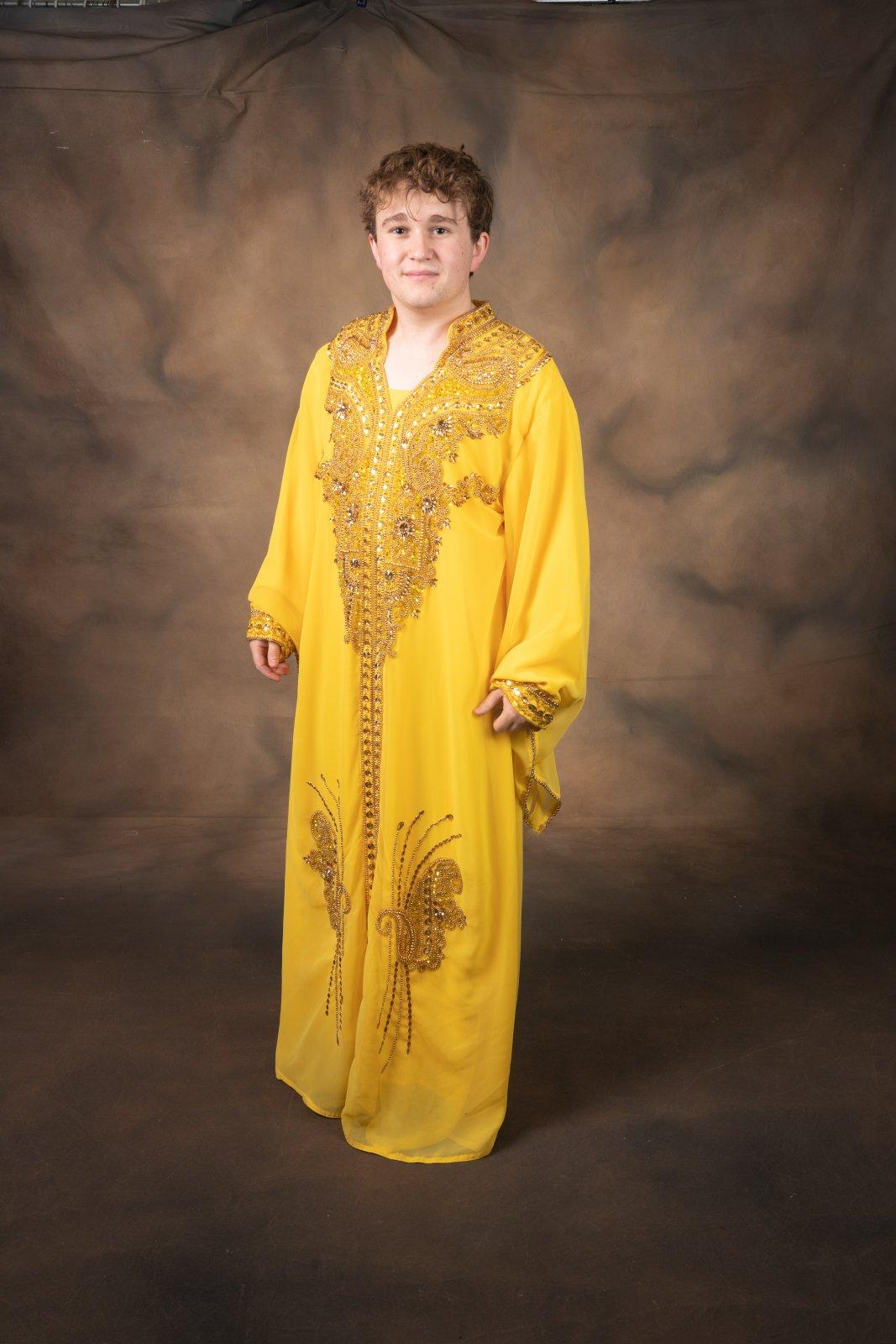 Pharaoh Night Robe Yellow