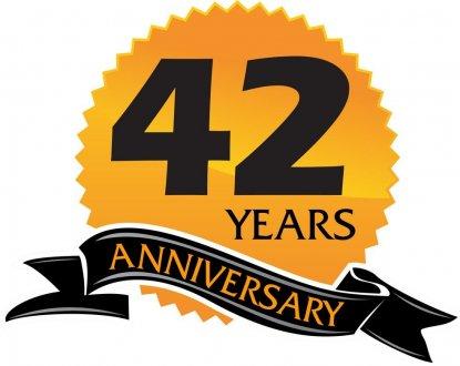 42 years anniversary symbol
