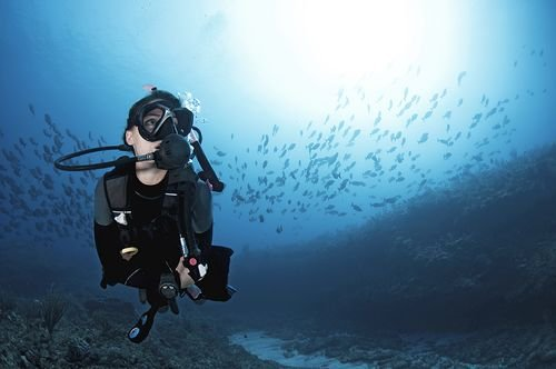 Female deep diver