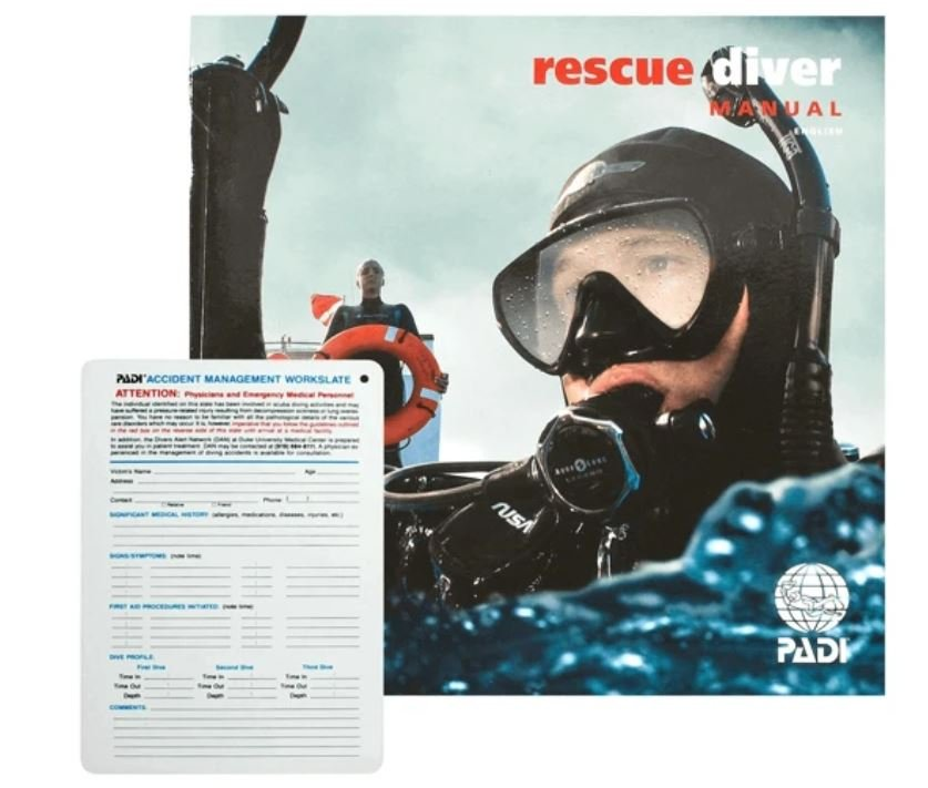 Rescue Diver Manual with Slate