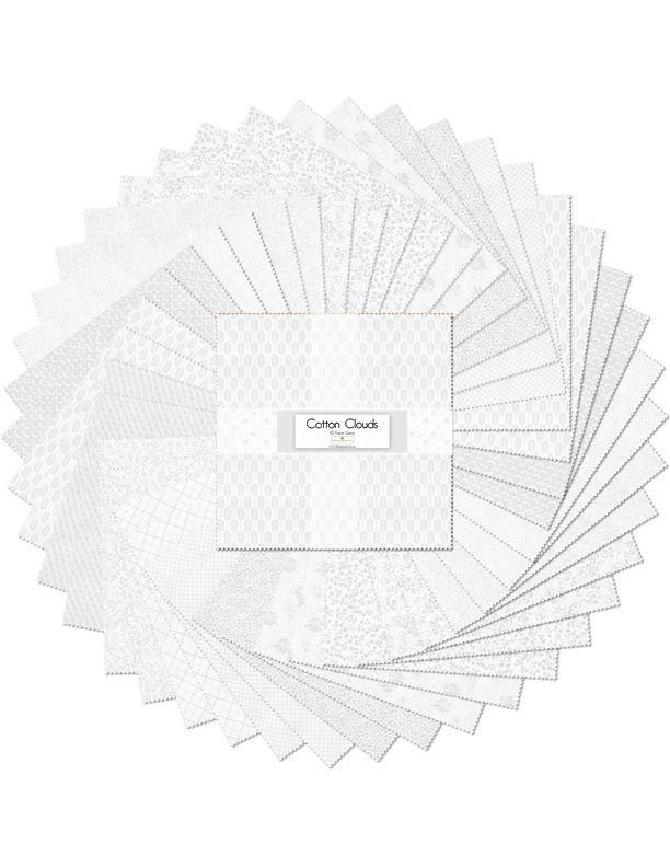 10in Squares Cotton Clouds 42pcs/bundle