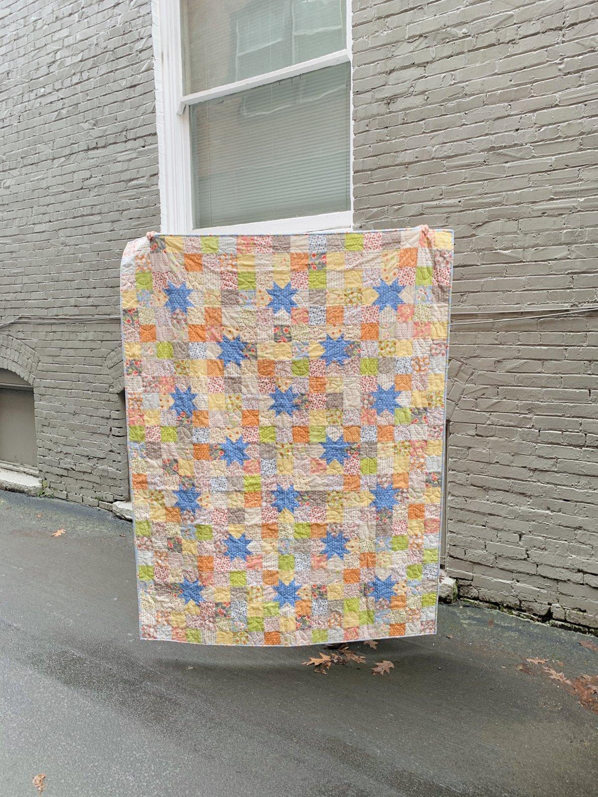 Starry Nine Patch Confetti Quilt Kit