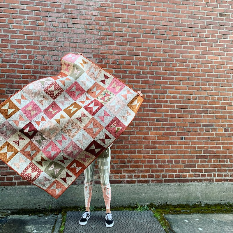 Rosy Outlook Quilt Kit - Featured in Quilt Sampler's Fall 2021 Issue