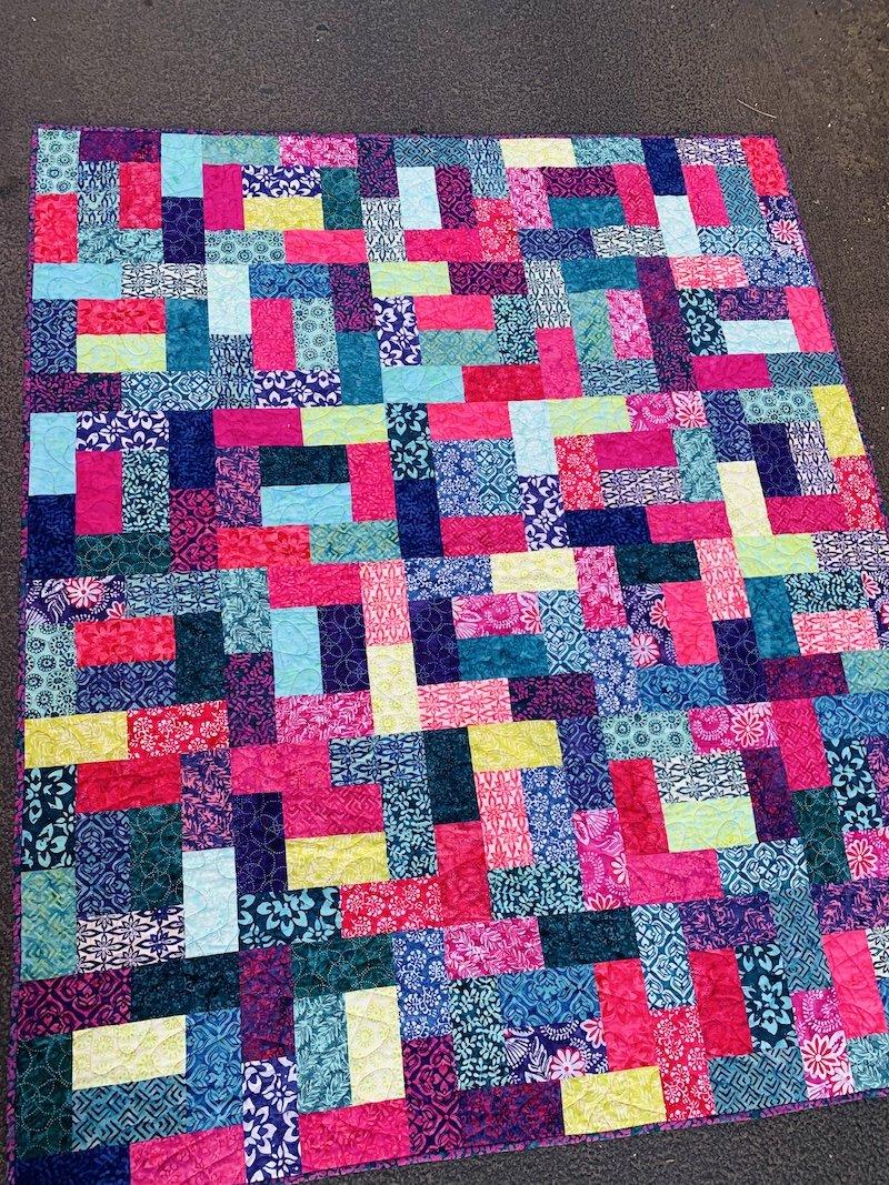 Batik Hopscotch Confetti Quilt Kit