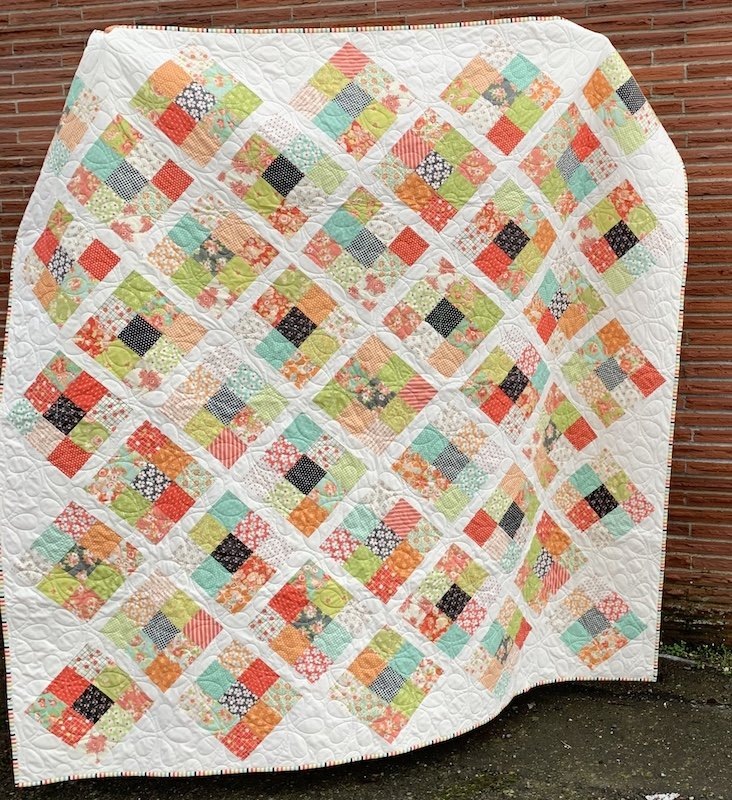 Nine on Point Quilt Kit