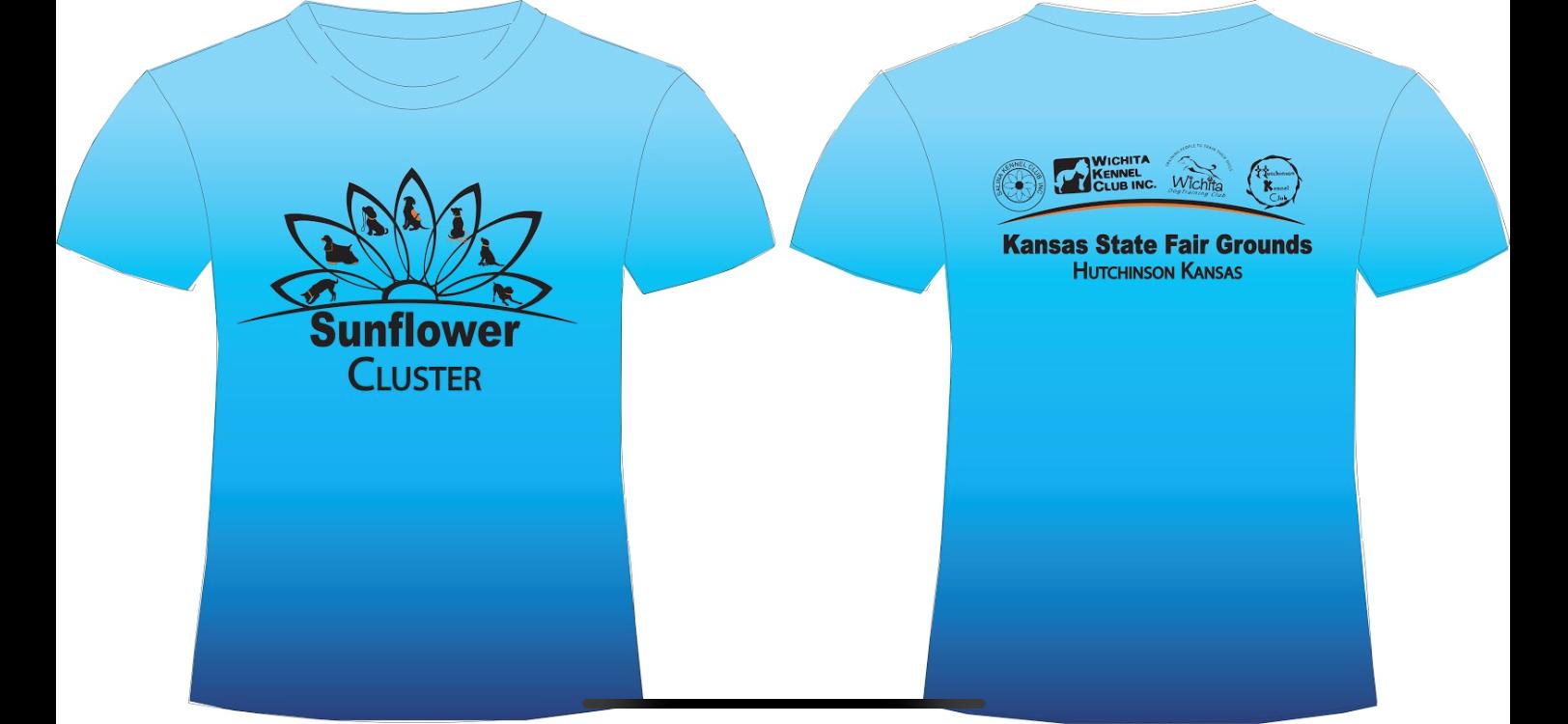 2021 Sunflower Cluster Blue Shirt