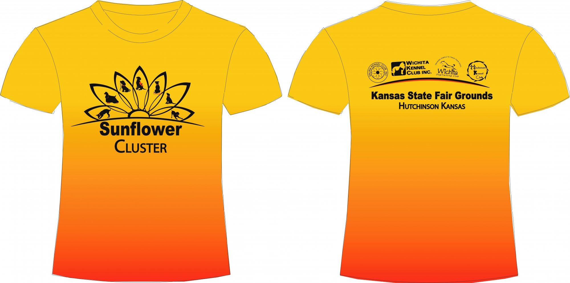 2021 Sunflower Cluster Yellow Shirt