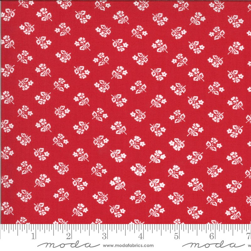 Sophie -Small Floral - Rosey Red