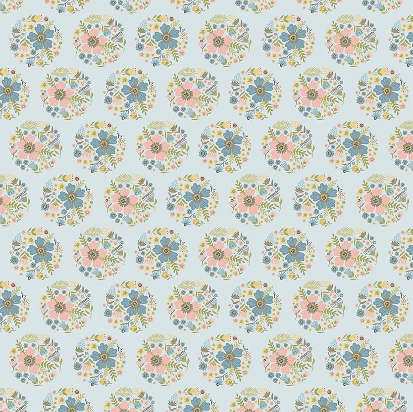Wanderings - Bloom Blue 5 yard backing