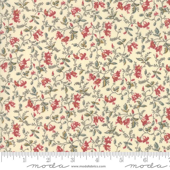 Sarah's Story - Delicate Vine Sweet Cream - 1 YARD 13 INCHES